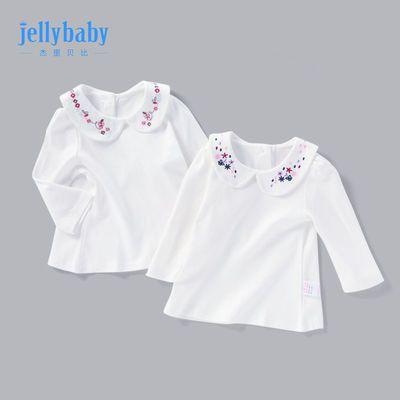 杰里贝比女童打底衫3岁童装婴儿上衣宝宝娃娃领春秋儿童长袖t恤女