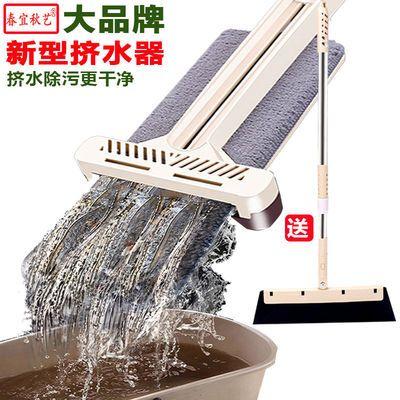 网红大号免手洗平板拖把家用懒人一拖净干湿两用吸水墩布拖地神器