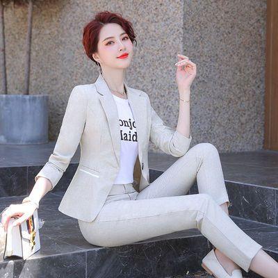 职业装女装套装春秋季新款休闲小西装时尚气质矮个子显高短款外套