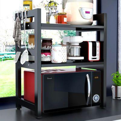 厨房微波炉置物架桌面两层家用台面双层调料架烤箱电饭煲收纳架子