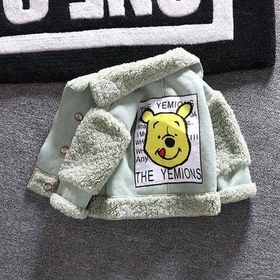 女童鹿皮绒外套加绒加厚宝宝时尚2020款秋冬季儿童羊羔毛夹克潮衣