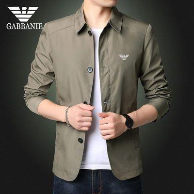 奇 阿玛尼 亚男士夹克新款商务休闲时尚翻领外套中青年修身帅气潮