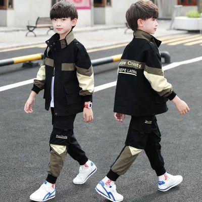 童装男童秋装套装2020新款儿童中大童春秋季韩版帅气男孩两件套潮