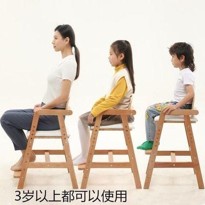 儿童餐椅大号宝宝实木吃饭座椅家用餐桌凳子大童高脚母子成长椅子
