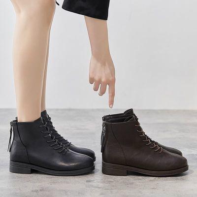 靴子女2020新款短靴女秋冬季单靴时尚鞋子女学生韩版平底网红女鞋