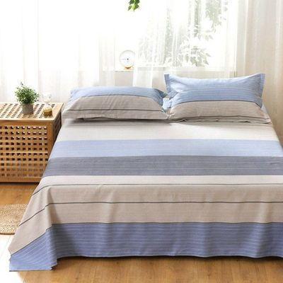山东老粗布床单单件单人双人被单100%纯棉凉席帆布麻布三件套夏季