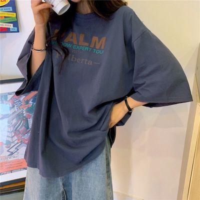 短袖女ins潮2020新款夏季潮牌t恤学院风学生韩版宽松版半袖体恤衫