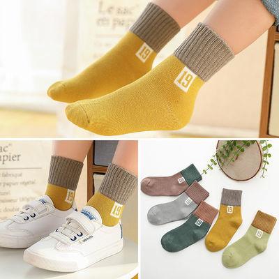 【严选好货】5双装儿童袜子秋冬季款男女童中筒宝宝袜学生袜