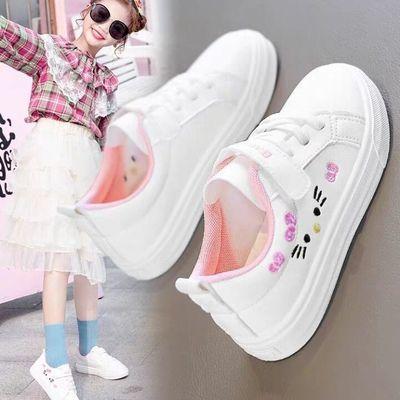91552/女童6小白鞋韩版儿童板鞋11单鞋小学生百搭童鞋13休闲运动鞋15岁