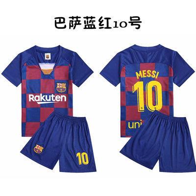 新款儿童足球服男童足球衣中小学生比赛服运动服套装成人足球服可