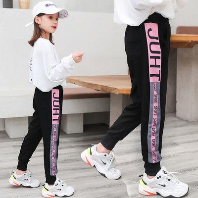 女童裤子运动裤秋冬外穿儿童加绒休闲裤女孩中大童2020新款长裤