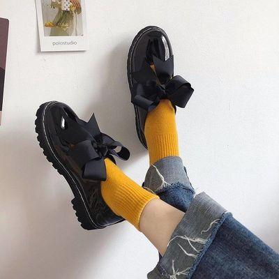学院制服洛丽塔软妹小皮鞋女学生韩版英伦风平底百搭复古圆头单鞋