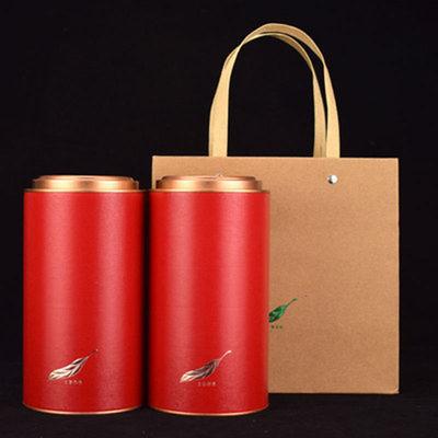 通用定制高档茶叶罐纸罐半斤一斤装小青柑密封圆筒纸筒包装盒空盒