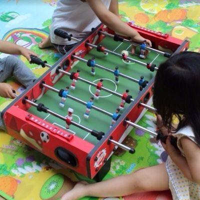 桌面足球台波比桌式足球亲子娱乐玩具高密度板桌上足球机8杆儿童