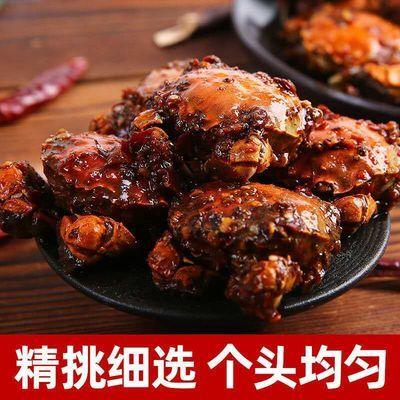 香辣蟹即食罐装熟食小零食秘制调料麻辣海鲜小螃蟹醉蟹包邮