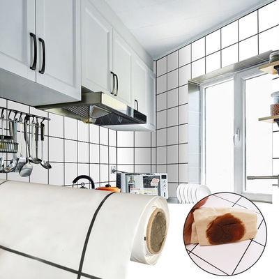 自粘厨房贴纸防水防油瓷砖墙贴耐高温用防油贴纸墙壁纸浴室贴纸