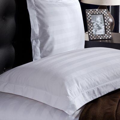星级酒店枕头套全棉贡缎条纹白色纯棉枕套包邮枕头套一对
