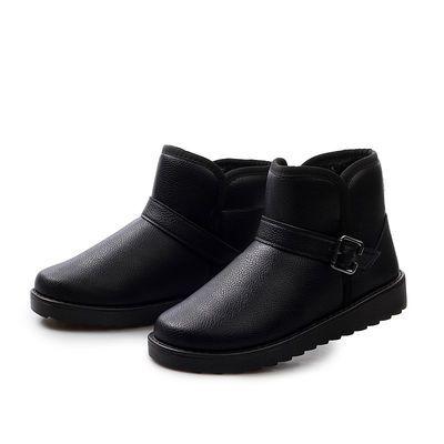 【热销5万+】冬季男士雪地靴保暖短靴马丁男靴子加绒加厚棉鞋防