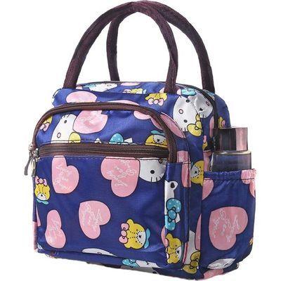 饭盒包妈咪包手提便当包包饭盒袋新梯形带饭手提买菜上班上学包包