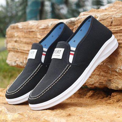 夏季新款帆布鞋男老北京布鞋休闲鞋运动鞋防滑耐磨布鞋爸爸单鞋