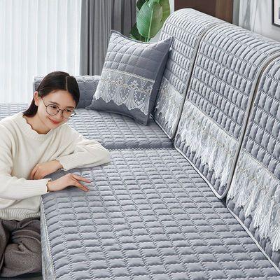 四季通用防滑沙发垫布艺北欧简约现代沙发罩垫子全包万能沙发套