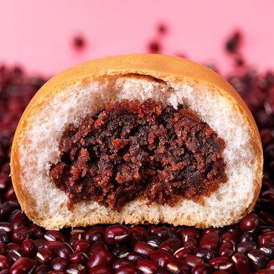 红豆面包早餐面包营养夹心绿豆包手撕软面包休闲零食点心整箱批发