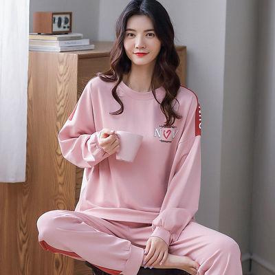 春秋季长袖睡衣女学生纯棉韩版可爱女士家居服两件套可外穿秋冬款