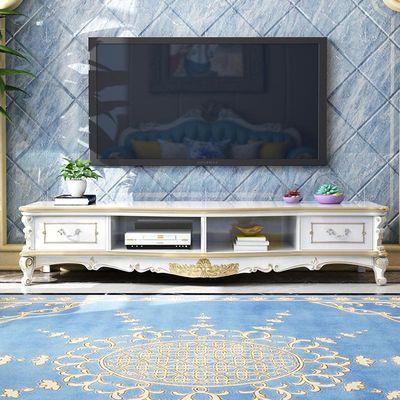 依然美佳欧式电视柜轻奢客厅地柜法式小户型卧室实木描金雕花家具