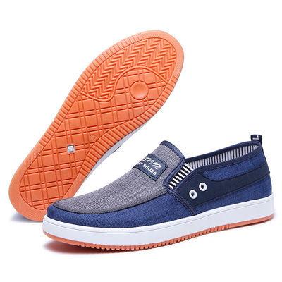 新款男鞋牛筋底休闲帆布鞋板鞋老北京布鞋透气防滑上班鞋子男S