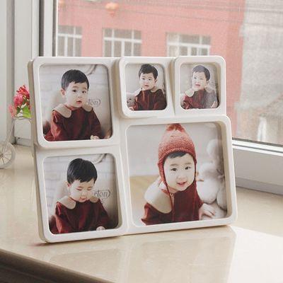 爆款送洗照片6格4格5格组合连体相框韩式5寸创意婚纱儿童宝宝摆台