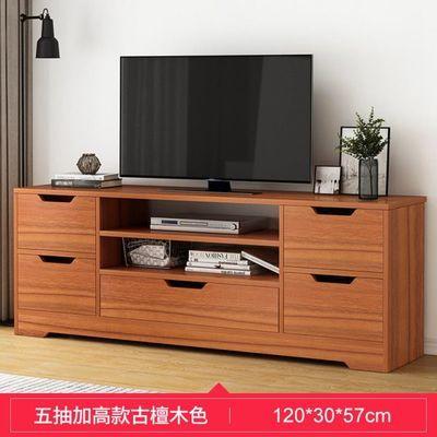 加高款电视柜现代简约小户型卧室轻奢地柜客厅简易实木色电视机柜