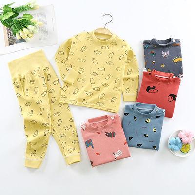 儿童内衣套装宝宝婴儿高腰护肚秋衣秋裤0-6岁男童女童睡衣家居服