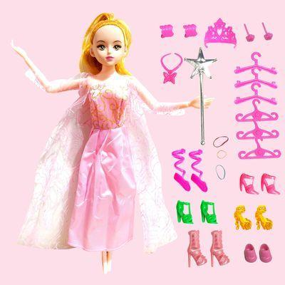 洋芭比娃娃长发套装大礼盒公主女孩儿童玩具衣服布生日礼物屋可爱