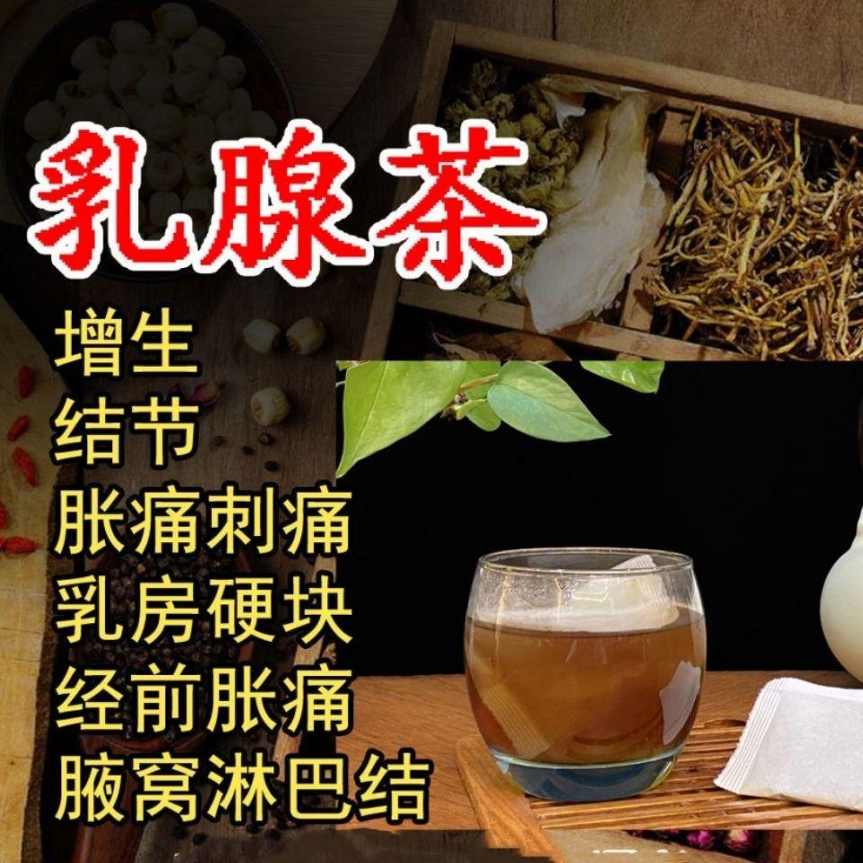 乳腺茶小叶增生贴蒲公英胀刺痛纤维瘤中药乳房肿硬块疏通散结节茶