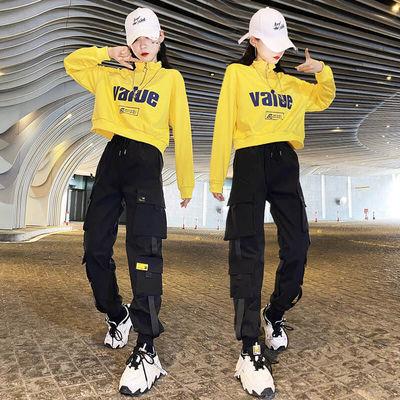 短款卫衣套装女休闲时尚2020秋装新款帅气学生运动服工装两件套潮