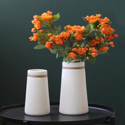 花瓶陶瓷客厅插花北欧创意简约干花装饰摆件餐桌白色水养花器