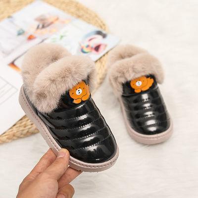 2020冬季新款男女童加绒加厚棉鞋防滑大棉雪地靴室内家居鞋学生