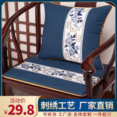 红木沙发坐垫中式餐椅茶室圈椅太师椅官帽椅家用古典茶椅防滑椅垫