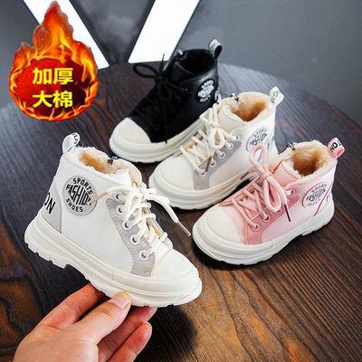 儿童加绒保暖马丁靴女童鞋2020秋冬新款韩版男宝宝皮靴软底短靴子