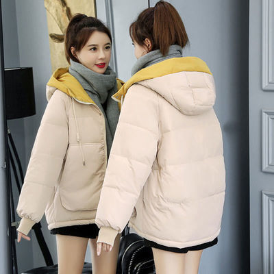 54552/反季棉服女2021新款宽松学生面包服羽绒棉衣冬季外套洋气加厚棉袄