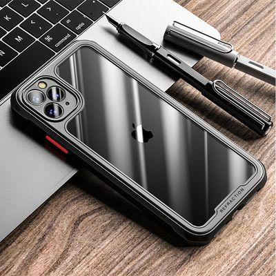 商务纯色iphone12 6.1寸手机壳3米防摔亚克力苹果11/11ProX保护套