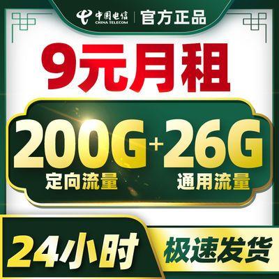 电信流量卡无限流量卡4g手机卡0月租纯上网卡全国通用5g电话卡