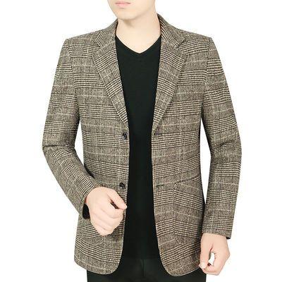 西装男外套男士休闲炸街西装外套西服上衣休闲秋季外套新款帅气