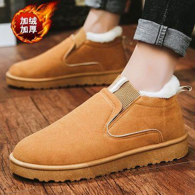 2020新款冬季加绒保暖棉鞋男休闲韩版潮鞋防滑雪地靴棉靴中帮鞋子