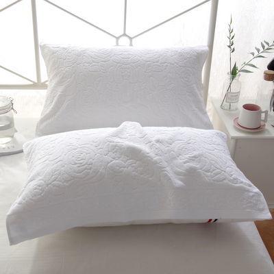 素色全棉枕巾一对装老式毛圈全棉白色蓝色宿舍按摩酒店成人枕头巾