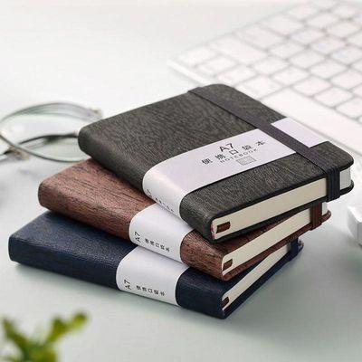 可爱便携小本子胶套日记本奖品学生学习文具奶茶口袋本随身记事本