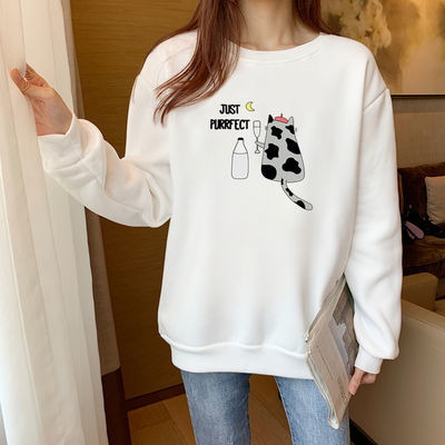 2020新款秋冬季韩版女宽松日韩风卫衣潮ins学生百搭上衣长袖外套