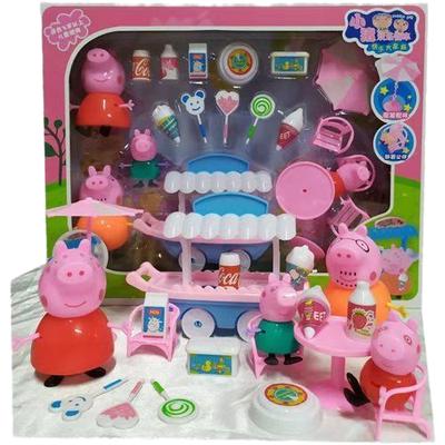 小猪佩奇玩具套装全套女孩子过家家家庭套装佩琦小猪一家四口玩具