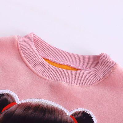儿童秋装男裤子女童新款套装小女孩针织长裤韩版时尚套装两件套