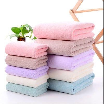 浴巾毛巾珊瑚绒比纯棉毛巾柔软吸水不掉毛擦头洗澡子母套巾干发巾